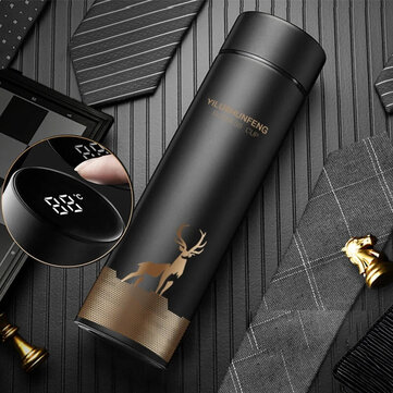 500ml LED Temperature Display Thermos Stainless Steel Mug Water Bottle Touch Screen Intelligent Measurement Double Vacuum Flask Cup Gift
