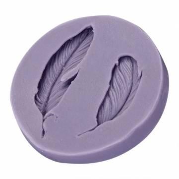 Molde de silicona fondant plumas 3d fondant pastel de silicona molde de la pasta de azúcar de la decoración del molde del chocolate