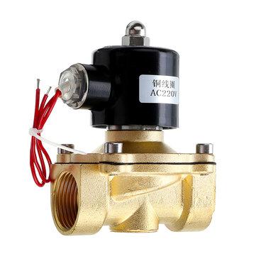 1/2 3/4 1 Pulgada 220V Válvula neumática de electroválvula eléctrica para válvulas de aire de válvula de aire de gas y aire de latón