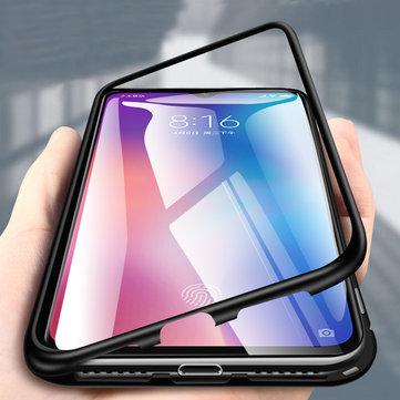 Étui protecteur en verre trempé métallique Bakeey 360 ° pour adsorption magnétique pour Xiaomi Mi 9 / Xiaomi Mi9 Édition transparente