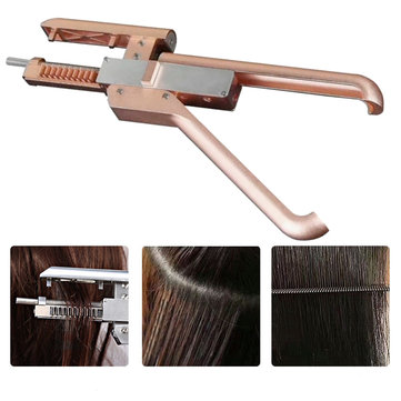 6D Hair Extensions Machine Salon Fusion Tools Connector Hair Extensions Kit Set