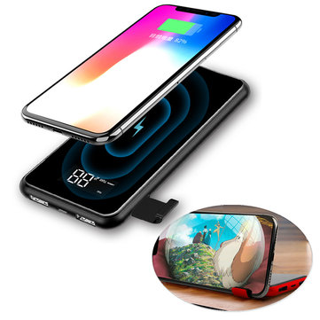 Baseus 8000mAh QI LCD Wireless Charger Power Bank For iPhone XS for Samsung for iPhone S10 Xiaomi mi 9