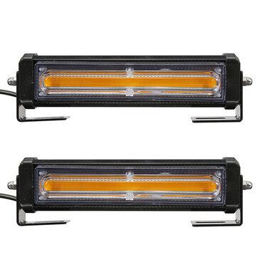 COB LED Griglia anteriore auto Lampeggiante Luci emergenza Strobe lampada Barre ambra con remoto