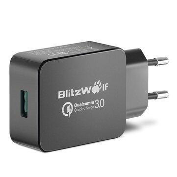 [क्वालकॉम सर्टिफाइड ब्लिट्ज़वॉल्फ® BW-S5 QC3.0 18W USB चार्जर ईयू एडप्टर विद पावर 3 एस टेक