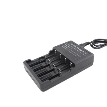 LED-4 LED Light Display Smart Battery Charger For 18650 26650 CR123A 4Slots US Plug