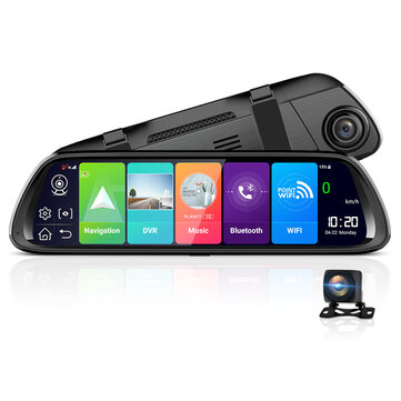 JUNSUN A960P 1080P 4G 3G 2G WiFi bluetooth Android 8.1 ADAS Car DVR with Rear View Camera