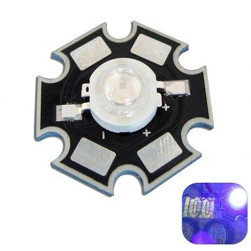 3W UV Ultraviolet LED Bead Light DIY Lampu Chip Dengan 20mm Star Base