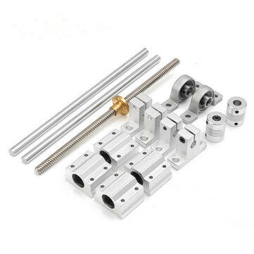 Machifit 15pcs 400mm Optical Axis Guide Bearing Housings Linear Rail Shaft Support Screws Set Mechanical Parts from Tools, Industrial & Scientific on banggood.com