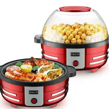 YIDPU YD 108B 2 in 1 Electric Automatic Hotpot Popcorn Maker 850W 5L Multifunction Barbecue Corn Popper Coupon Code and price! - $82