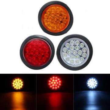 Bulat Reflektor Lampu Indikator Lampu Belakang Rem Berhenti Penanda untuk Truk Trailer