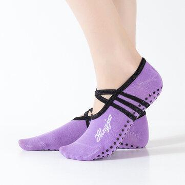 How can I buy Women Round Head Backless Yoga Socks Non-slip Socks with Bitcoin