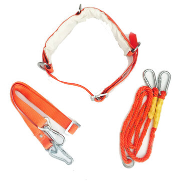 W-Y Type Orange Aerial Work Rope Full Body Climbing Rope Belt Security Outdoor Mountaineering Belts Protection Accessories
