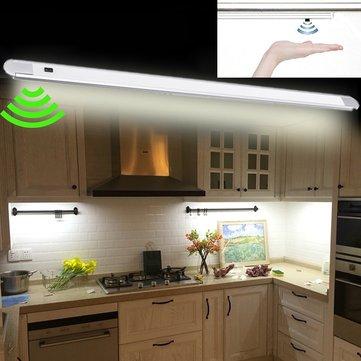 DC12V 50CM 7W Hand Wave Sensor 60LED Cabinet Rigid Strip Light for Bar Kitchen Bathroom Home Decor