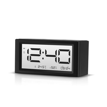 Digoo DG-C4S  Calendar Count-down Timer Snooze Function Alarm Indoor Temperature Humidity White Backlight Day Night  Display Alarm Clock
