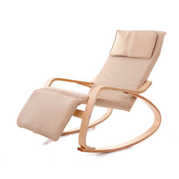 Folding Rocking Chair with 5 way Adjustable Foot Section Load Capacity 150 KG Suitable for Home Furniture