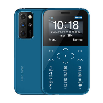 SOYES S10P 4G Network Mini SmartPhone 1.8inch 1000mAh With SOS Torch MP3 Anti lost Ultra thin Portable Mini Card Phone