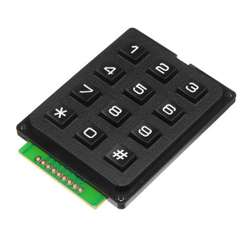 12 Tangent MCU-membranströmbrytare 4 x 3 Matrix Array Matrix-tangentbordsmodul för Arduino