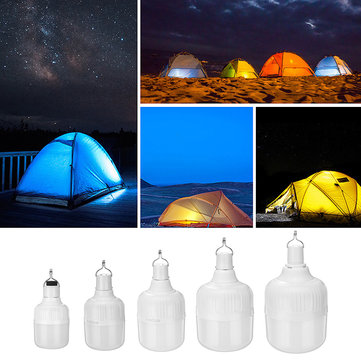 20W/40W/80W/100W/150W DC5V Charging 5 Modes LED Light Bulb With USB Cable for Outdoor Camping Use
