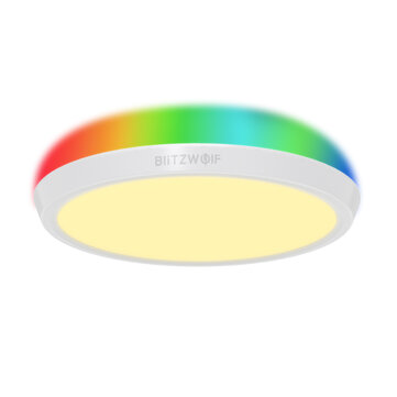 BlitzWolf BW CLT1 LED Smart Ceiling Light with Main Light and RGB Atmosphere Light 2700 6500K Adjustable Temperature APP Remote Control Optional and DIY Scene Mode