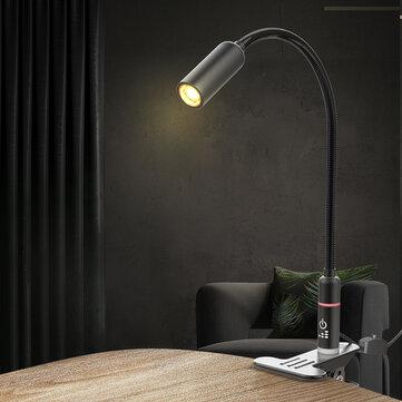 BlitzWolf® BW-LT17 2.8W Clip-on Flexible Table Desk Lamp Touch Sensor Dimmable Reading Light AC100-240V