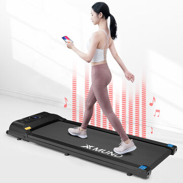 38% OFF For XMUND® XD T1 Treadmill Portable Folding Walking Pad 12 Preset Gears LCD Display Remote Control Bluetooth Speaker Home Fitness Equipment Coupon Code and price! - $286