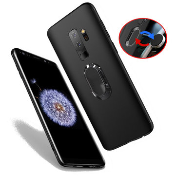 premium selection d147b ca9da Bakeey Magnetic Metal Ring Bracket TPU Protective Case for Samsung Galaxy  S9/S9 Plus