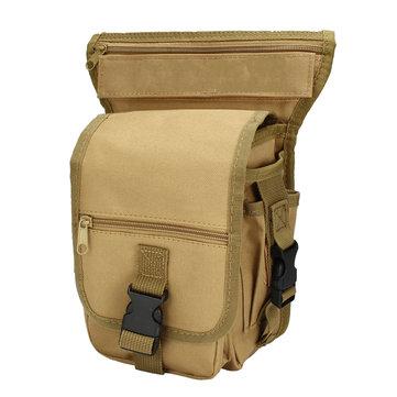 Outdoor Tactical Nylon Waist Bag Drop Leg Pack Belt Sport Pouch