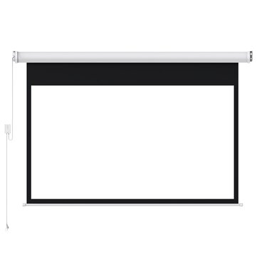 Fengmi Electric Projector Screen Coated White Plastic 16:9 100-Inches Support Projector With Remote Control Up Down for Home Theater Office Classroom