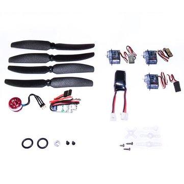 Dancing Wings Hobby DW C10 2900KV Micro Brushless Motor ESC Servo LiPo Battery Propeller Power System Combos