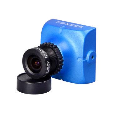 Foxeer HS1177 V2 600TVL CCD 2.5mm/2.8mm PAL/NTSC IR Blocked Mini FPV Camera 5-40V w/ Bracket