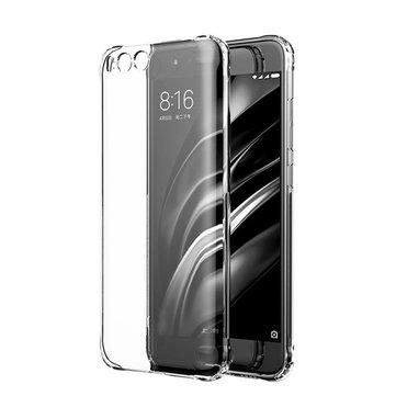 Ultra Thin Shockproof Transparent Soft TPU Back Case For Xiaomi Mi6 Mi 6