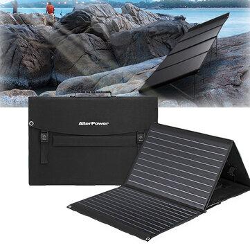 100W Solar Panels 2 USB+DC Waterproof Folding Solar Monocrystalline Silicon Board Power Bank Solar Charger Bag Camping Travel