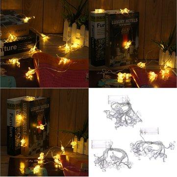 Battery Powered 10LEDs Warm White Flamingo Unicorn Deer Fairy String Light for Christmas