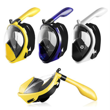 Foldable Anti Fog Snorkeling Panoramic Diving Mask All_Dry Full Face Diving Mask Gopros Mount Underwater Diving Mask Swimming Adult Kids