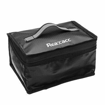 משדרגים Realacc שקית בטיחות עם סוללות Lipo עמידות בפני אש (220x155x115mm) עם ידית זוהרת