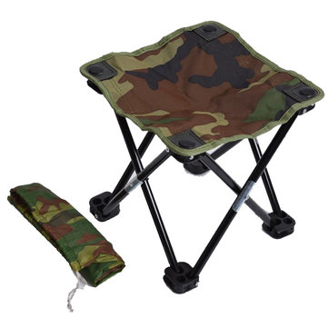 Camouflage Contraction Folding Stool Recreational Fishing Chair Portable Stool Fishing Gear