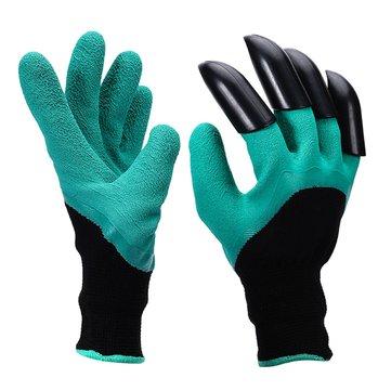 1 Par Safety Guantes Garden Guantes Caucho TPR Thermo Plásticos Trabajadores ABS Plastic Claws