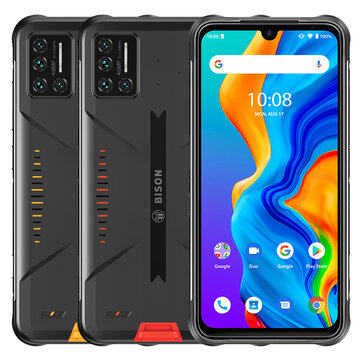 UMIDIGI BISON Global Bands IP68&IP69K Waterproof NFC Android 11 5000mAh 8GB 128GB Helio P60 6.3 inch 48MP Quad Rear Camera 24MP Front Camera 4G Smartphone