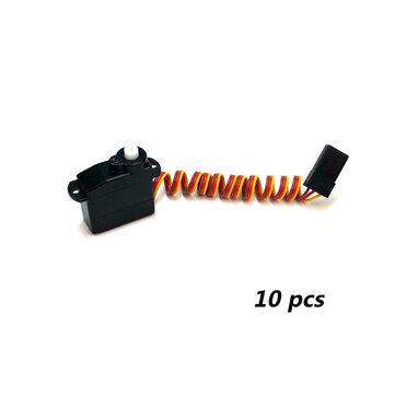 10 PCS PZ 5g Thin Servo 4.3g Analog Plastic Gear 300g Torque TJC8 2.54mm 3P for RC Drone Car Robot Airplane Aircraft Fixed Wing Plane