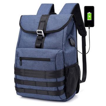 Оксфорд большой емкости рюкзак USB многофункциональный компьютер рюкзак На открытом воздухе Travel Сумка