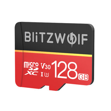 20% off for BlitzWolf� BW-TF1 Class 10 UHS-1 32GB UHS-3 V30 64GB 128GB Micro SD TF Memory Card with Adapter