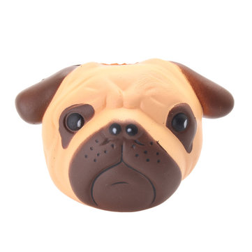 Puppy Head Slow Rising Squishy Bulldog Squeeze Soft Toy Pressure Relief Kawaii Gift