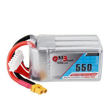 Gaoneng GNB 22.2V 550mAh 80C 6S लाइपो बैटरी XT30 प्लग के साथ X140HV GT R369 Arrow3 FPV रेसिंग ड्रोन
