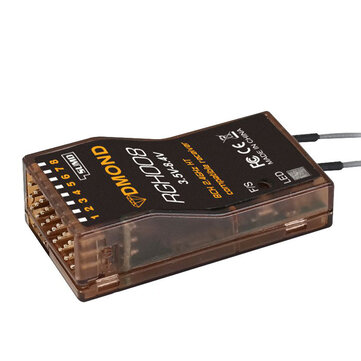 DMOND RGH008 2.4GHz 8CH Full Range Telemetry RC Receiver Comaptible Graupner HOTT+SUMD System Support Two-way Data Return for RC Drone