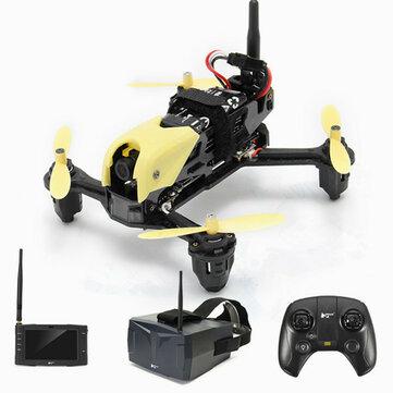 Hubsan H122D X4 STORM 5.8G FPV Micro Racing Drone Cuadricóptero con Cámara 720P Goggles HV002