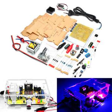 Geekcreit® EU Plug 220V DIY LM317 Adjustable Voltage Power Supply Module Kit With Case