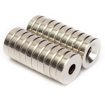 20 adet N50 12x3mm Havşa Halkası Mıknatıslar 4mm Delik Rare Toprak Neodimyum Mıktanıs