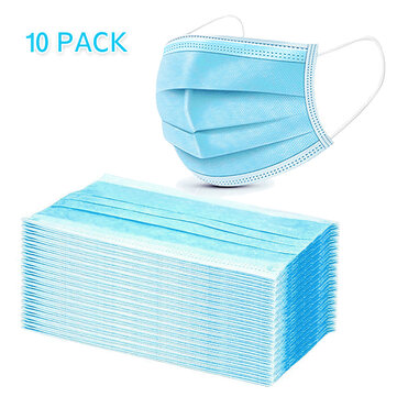 How can I buy 10Pcs Disposable Medical Mouth Face Masks 3-layer Respirator Mask Dust-Proof Personal Protection with Bitcoin