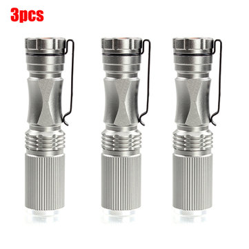 3pcs Meco XPE-Q5 600Lumen 7W Zoomable LED Flashlight Silver For 1xAA 1.2V