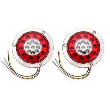 19 LED ไฟท้ายรถกระบะไฟท้ายไฟท้ายเลี้ยวไฟเลี้ยวไฟสแตนเลส